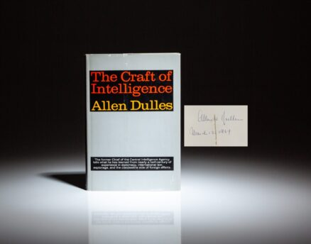 First edition of The Craft of Intelligence, signed by CIA Director, Allen Dulles.