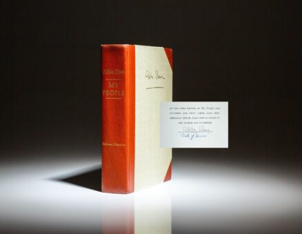Signed limited edition of My People: The Story of the Jews by Abba Eban.