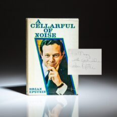 Signed first edition of A Cellarful Of Noise by Beatles' manager, Brian Epstein.