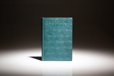 First edition, first state of The Great Gatsby by F. Scott Fitzgerald.