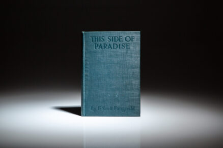 First edition, first printing of This Side of Paradise by F. Scott Fitzgerald.