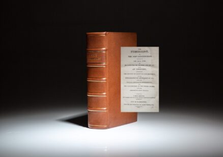 The Federalist Papers by Hamilton, Madison and Jay, known as the New Edition, published in 1818.