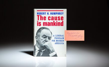 Signed first edition of The Cause is Mankind by Vice President Hubert Humphrey.