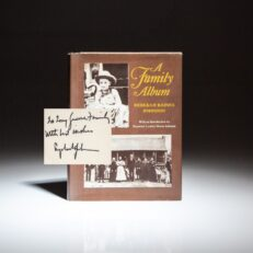 First Edition of A Family Album by Rebekah Baines Johnson, signed by President Lyndon B. Johnson.