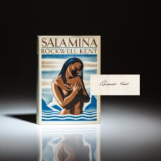 Signed first edition of Salamina by Rockwell Kent, in first state dust jacket.