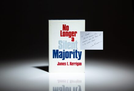 First edition of No Longer A Silent Majority, by the President of Greyhound Bus Lines, James L. Kerrigan.