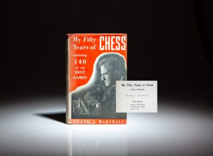 Signed limited edition of My Fifty Years of Chess by Frank J. Marshall.