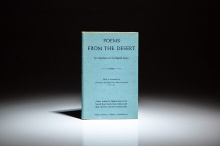 First edition of Poems From The Desert by General Bernard Montgomery.