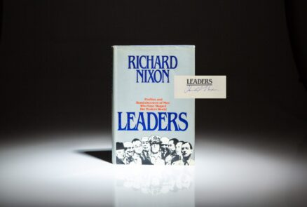 Signed first edition of Leaders by Richard Nixon.