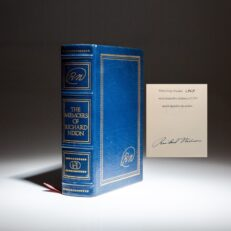 Signed limited edition of The Memoirs of Richard Nixon, signed by President Richard Nixon.