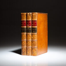 The first English edition of William H. Prescott's History of the Conquest of Mexico.