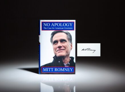 No Apology: The Case For American Greatness, a first edition, signed by Mitt Romney.