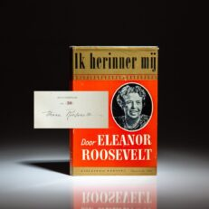 The Dutch limited edition of This I Remember [Ik Herinner Mij], signed by Eleanor Roosevelt.