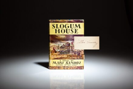 Signed first edition of Slogum House by Mari Sandoz, in publisher's dust jacket.