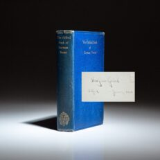 The Oxford Book of German Verse, the personal copy of Theodor Seuss Geisel (Dr. Seuss), which he used at Lincoln College, Oxford.