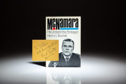 Signed first edition of McNamara: His Ordeal in the Pentagon by Henry L. Trewhitt.