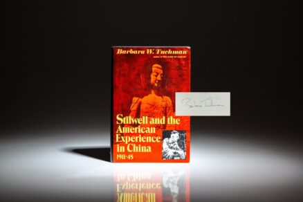 Signed first edition of Stilwell and the American Experience in China, from the private library of William Safire.