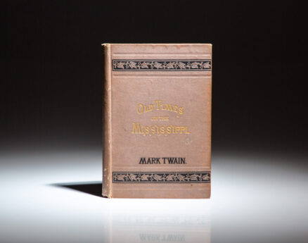 First pirated edition of Old Times on the Mississippi by Mark Twain.