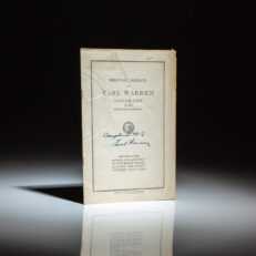 Signed copy of Biennial Message of Earl Warren, Governor of the State of California, delivered in 1945.