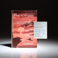 Limited edition of Wings of the Dawn by Commander Eugene E. Wilson, USN, presented to Senator Barry Goldwater.