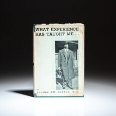 First edition of What Experience Has Taught Me, by Dr. Thomas William Burton, co-founder of the first African American medical society in Ohio.