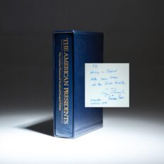 Limited edition of The American Presidents, inscribed by President George H.W. Bush and Barbara Bush.