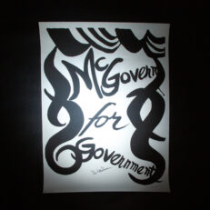 Limited edition lithograph of McGovern for Government by Alexander Calder. Signed by the artist and the Democratic presidential candidate, George McGovern.