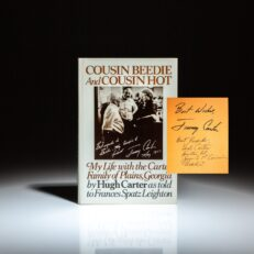 First edition of Cousin Beedie and Cousin Hot by Hugh Carter, signed by the author and President Jimmy Carter.