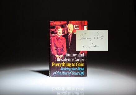 Signed first edition of Everything to Gain by President Jimmy Carter and Rosalynn Carter.