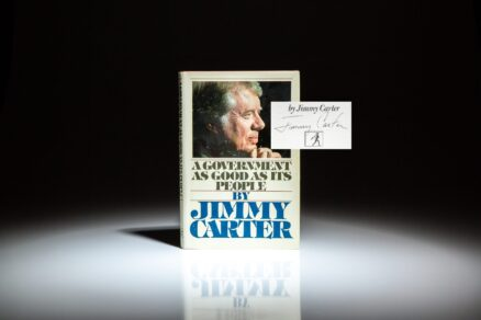 Signed first edition of A Government as Good as Its People by Jimmy Carter.