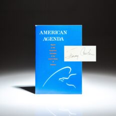 Signed first edition of American Agenda by President Jimmy Carter.