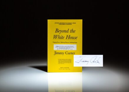 Advance reading copy of Beyond the White House, signed by President Jimmy Carter.