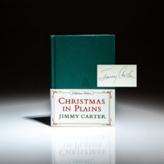 Collector's Edition of Christmas in Plains, signed by President Jimmy Carter.