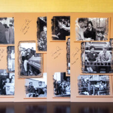 Four photographic panels from Plains High School, located in the Jimmy Carter National Historical Park, each of which is signed by President Jimmy Carter and First Lady Rosalynn Carter.
