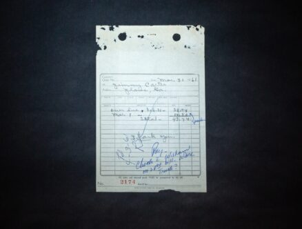 Invoice for work performed for Jimmy Carter of Plains, Georgia, dated March 31, 1961.