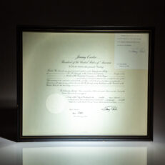 Presidential appointment of Sol M. Linowitz as Chairman of the Presidential Commission on World Hunger, dated September 12, 1978.