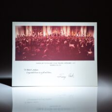 Official White House photograph from the signing of the Panama Canal Treaties, signed by President Jimmy Carter.