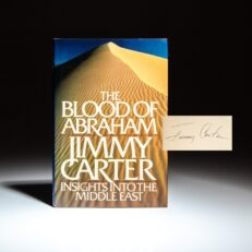 Signed copy of The Blood of Abraham, by President Jimmy Carter.