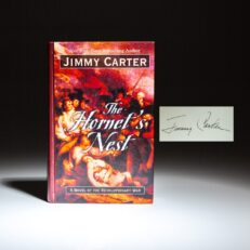Signed copy of The Hornet's Nest, the large print edition, by President Jimmy Carter.