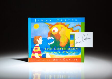 The Little Baby Snoogle-Fleejer, signed by President Jimmy Carter and Amy Carter.