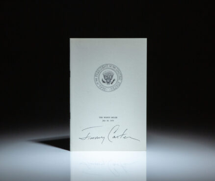 Signed copy of The Malaise Speech, delivered from the Oval Office on July 15th, 1979, published by the White House.