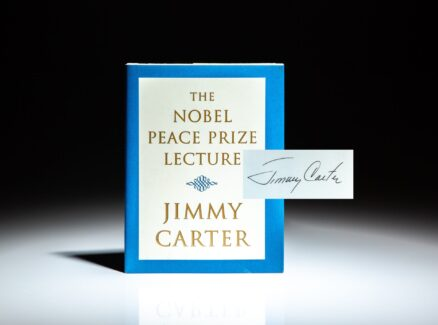 Signed first edition of The Nobel Peace Prize Lecture by President Jimmy Carter.
