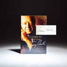 Signed first edition of Through The Year with Jimmy Carter.