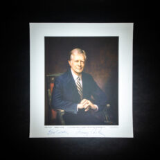 Two prints from The White House Historical Association, being the official White House portraits of President Jimmy Carter and First Lady Rosalynn Carter.