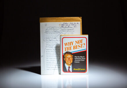 Three separate draft copies of Why Not The Best? by Jimmy Carter, from the desk of his editor, Hal Gulliver of The Atlanta Constitution.