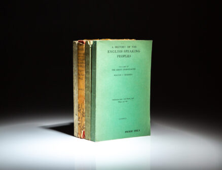 Proof copies from A History Of The English-Speaking Peoples by Prime Minister Winston S. Churchill.