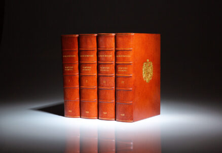 Signed limited edition of Marlborough: His Life and Times, by Prime Minister Winton S. Churchill. Complete in four volumes.