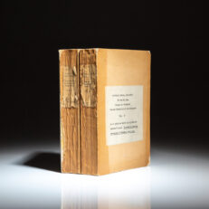 Advance Reading Copies of the first American edition of The World Crisis by Winston S. Churchill, published by Charles Scribner's Sons. In two volumes.
