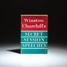 Advance review copy of Secret Session Speeches by Winston Churchill, with publisher's review cards laid-in.