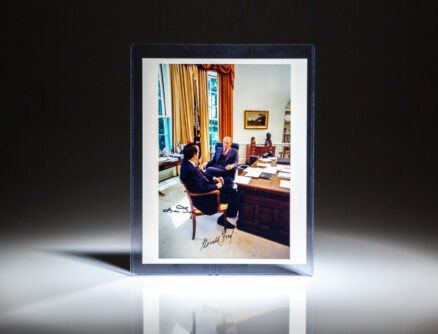Signed photograph of former President Gerald R. Ford with former Senator Bob Dole, his vice presidential running mate in 1976.